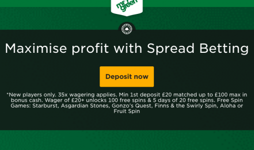 Sports Spread Betting at Mr Green